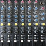 The mixer's sound levels