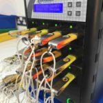 Copying machine copying USB sticks